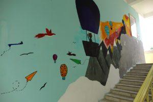 Peinture dans l escalier